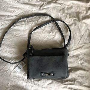 grey cross body handbag